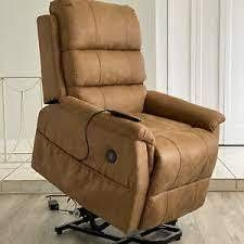 brown massage and lift chair with lie fl brown