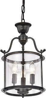 Carlota 3 light Clear Glass Foyer Pendant Chandelier  Retail 104 49
