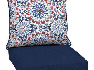 Clark Deep Seat Outdoor Cushion Set   Arden Selections blue