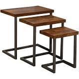 Carbon loft Schuyler Nesting Tables  Set of 3    24 W x 15 l x 24 H  Retail 342 49