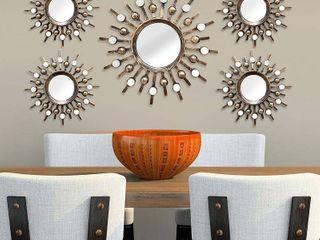 Set of 5  Burst Wall Mirrors Bronze   Stratton Home DAccor