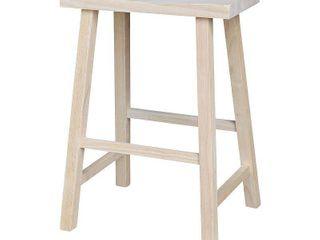 International Concepts Unfinished Saddle Seat Stool set of 2
