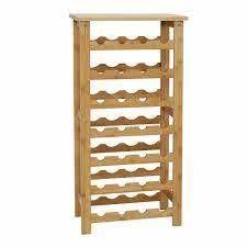 kinbor bottle bamboo wine display maple finish