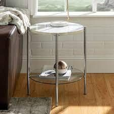 Silver Orchid Howell Round Side Table  Retail 114 49