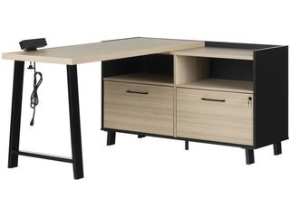 South Shore Kozack l Shaped Desk with Power Bar main part only half of desk box 1 as is