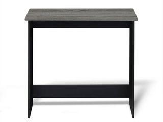 Furinno Simplistic Study Table  French Oak Grey Black