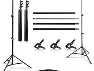 Yesker Photo Video Studio 10ft Adjustable Backdrop Stand  Background Support System Kit with Carry Bag for Photography Studio Parties Wedding