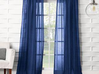 No  918 Vida Semi Sheer Rod Pocket Single Curtain Panel  2 Panels