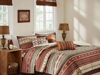 Spice Duncan Printed Quilt Set  Full Queen  6pc