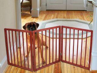 Pet Parade Freestanding Dog Gate  3l x 54 25W x 24H