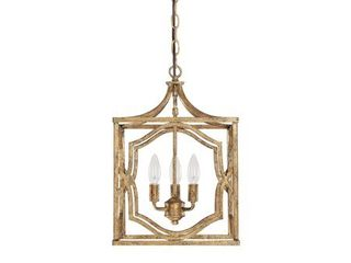 Capital lighting Blakely Antique Gold 3 light Foyer  Includes Chain And Flush Mount Option