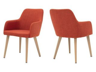Alistair Mid Century Fabric Dining Chair  Set of 2  by Christopher Knight Home  Retail 231 99