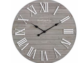 Gray Emmett Wall Clock 27 inch Diameter