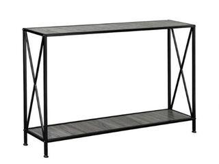 Porch  amp  Den Spreadborough Black Grey 1 shelf X design Console Table