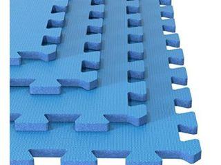 Foam Mat Floor Tiles  Interlocking  for Exercising  Yoga  Kids  Playroom 25x25   Set of 6