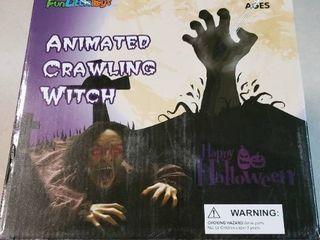 FunlittleToys Animated Crawling Witch