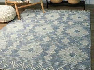 Papilio Keighley Geometric Cotton Flatweave Area Rug Handmade  Retail 148 49