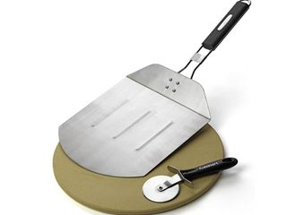 Grill Cookware  Cuisinart Grilled Pizza Pack  Silver Wood
