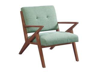 Carson Carrington Mustvee Seafoam  Pecan lounger Arm Chair  Retail 303 48