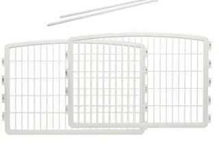IRIS USA 24 inch Pet Playpen 2 Panel Add On  White