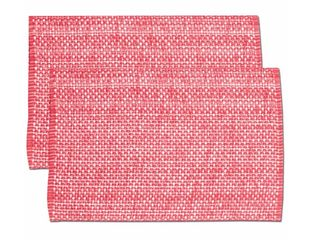 Pink Cotton Two Tone Placemats 13x19 Set Of 2