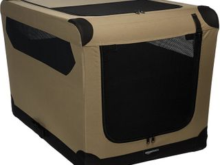 Amazon Basics Portable Folding Soft large Dog Travel Crate Kennel 42   Retail  71 99