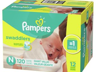 Pampers Swaddlers Disposable Diapers Giant Pack   Newborn  120ct  Retail  46 45