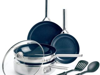 Blue Diamond Triple Steel Cookware Retail   149 99