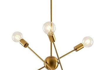 Sputnik light Fixture Mobile Chandelier 6 lights Modern Pendant lighting gold Finish Retail  54 99