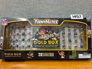 NFl TeenyMates 2020 Gold Box Superstar 32 Player Specific Collector Boxed Gift Set  Retail   47 36