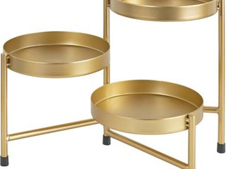 Gold 3 Pot Plant Holder Retail   44 95