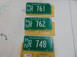 3 1975 license Tags