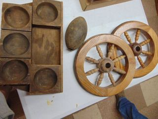 Pair of Wooden Wheels and More