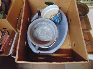 large Selection of Enamel Ware