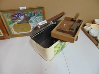 Bread Box and Several Wooden Boxes
