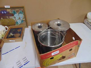 Three Stainless Steel Food Containers