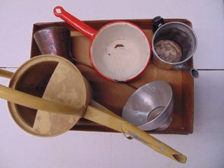 Enamel Ware sifters and more