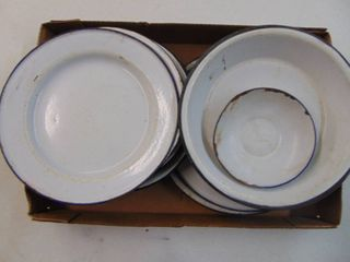 Enamel Ware Plates and Pie Plates