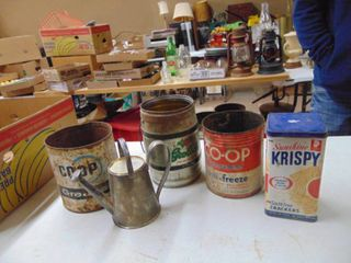 Assorted Tins and Oil Cans
