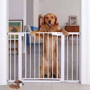Cumbor 30a Auto Close Safety Baby Gate  Extra Tall and Wide Child Gate  Easy Walk Thru Durability Dog Gate for The House  Stairs  Doorways