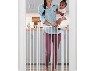 Regalo Extra Tall Easy Step Metal Walk Through Baby Gate   White