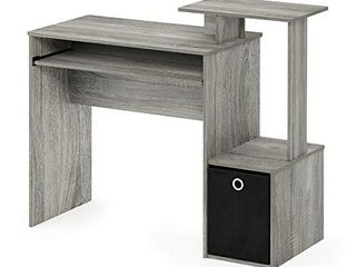 FURINNO Econ Multipurpose Home Office Computer Writing Desk  French Oak Grey