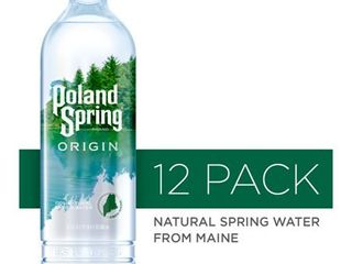 Poland Spring Origin  100  Natural Spring Water  900ml recycled plastic bottle  12 Pack
