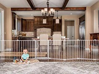 Regalo 192 Inch Super Wide Adjustable Baby Gate and Play Yard  4 In 1