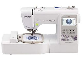 Brother SE600 Sewing and Embroidery Machine  80 Designs  103 Built In Stitches  Computerized  4  x 4  Hoop Area  3 2  lCD Touchscreen Display  7 Included Feet