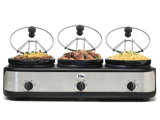 Elite Platinum 3 x 2 5Qt  Triple Slow Cooker Ewmst 325