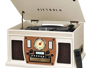 Victrola 8 in 1 Bluetooth Record Player   Multimedia Center  Built in Stereo Speakers   Turntable  Wireless Music Streaming   Oak