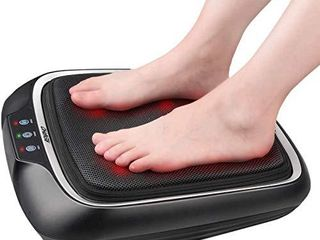RENPHO Foot Massager with Heat  Shiatsu Electric Foot Massager Machine with Heat  Kneading Foot   Back Massager for Foot and leg Massager  Relieve Pain   Stress of Foot and Back for Home   Office