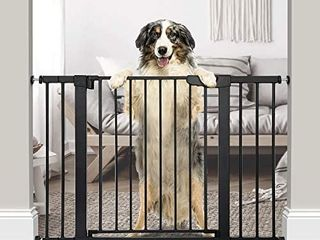 Cumbor 43 3a Auto Close Safety Baby Gate  Extra Tall and Wide Child Gate  Easy Walk Thru Durability Dog Gate for The House  Stairs  Doorways