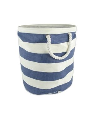DII Round Stripe Decorative Bin  large  Woven Paper  Multiple Colors Sizes